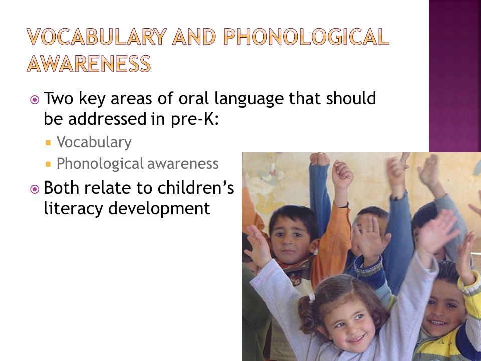 Vocabulary and phonological awareness