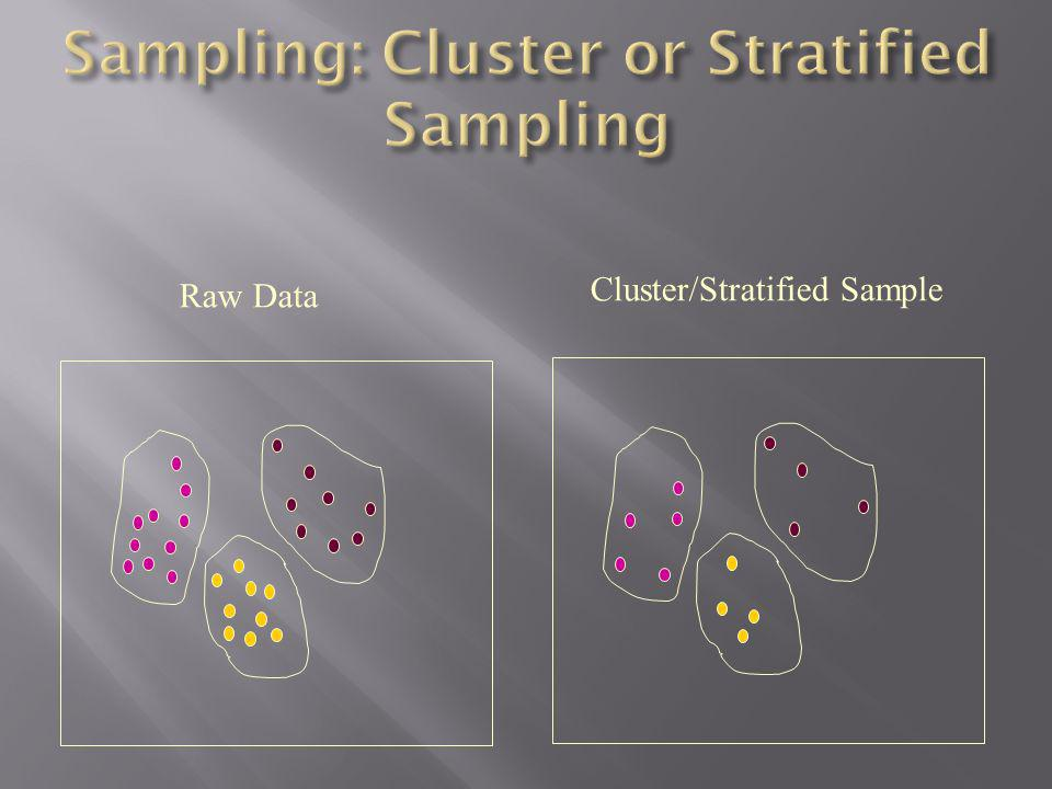 Sampling: Cluster or Stratified Sampling