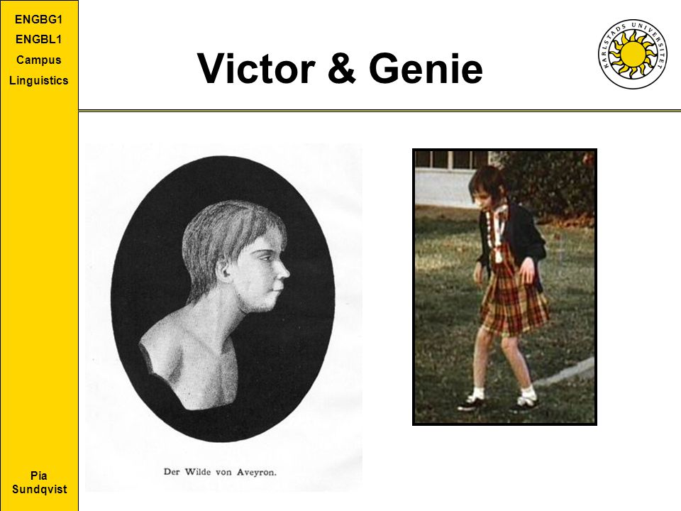 Victor & Genie Victor, Genie and the critical period hypothesis
