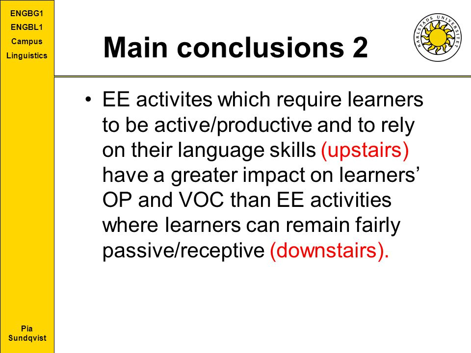 Main conclusions 2