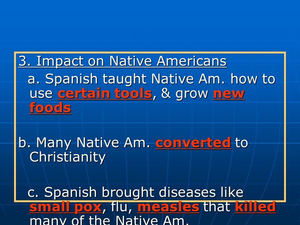 3. Impact on Native Americans