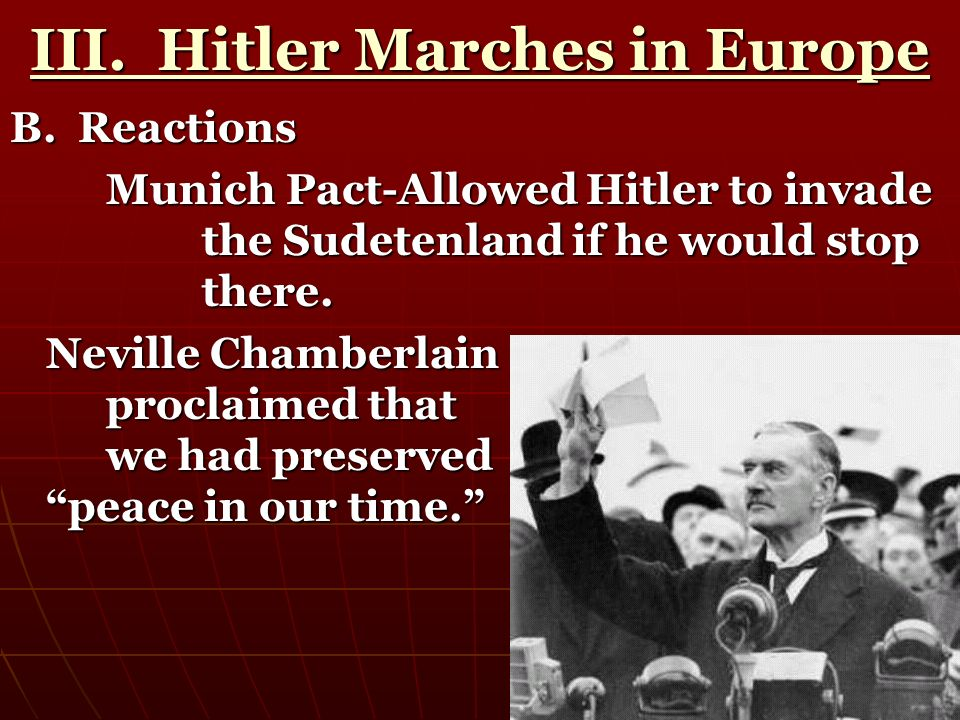 III. Hitler Marches in Europe