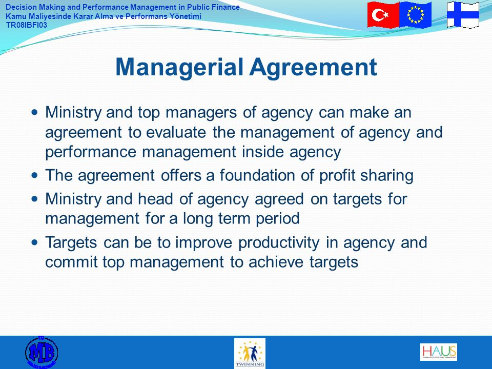 Managerial Agreement