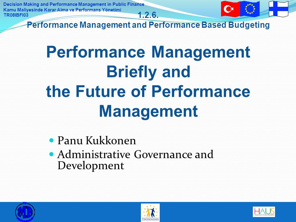 Panu Kukkonen Administrative Governance and Development