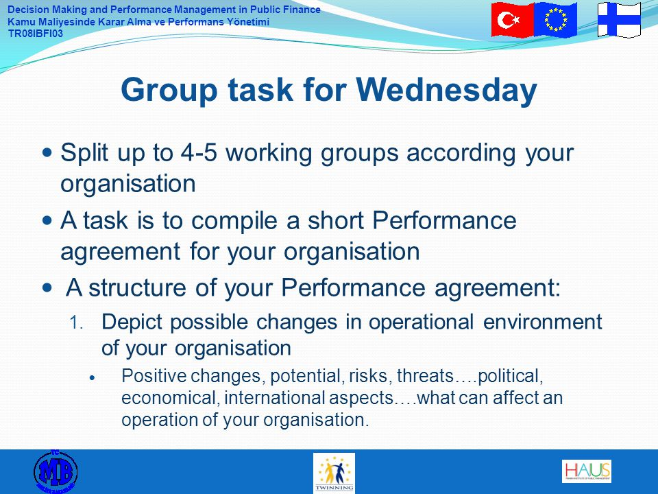 Group task for Wednesday