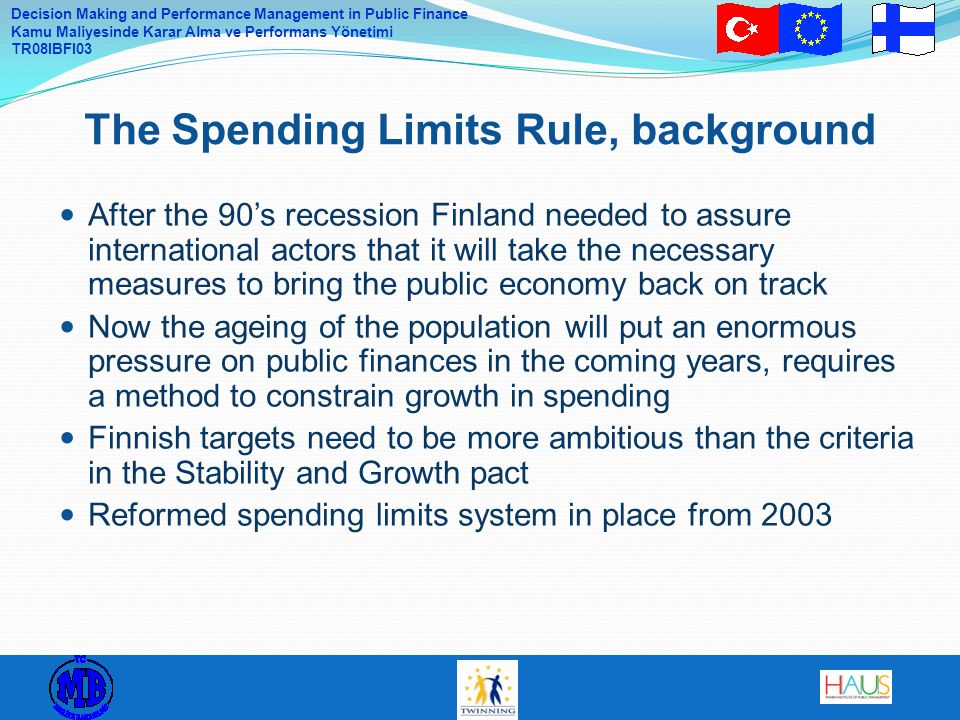 The Spending Limits Rule, background