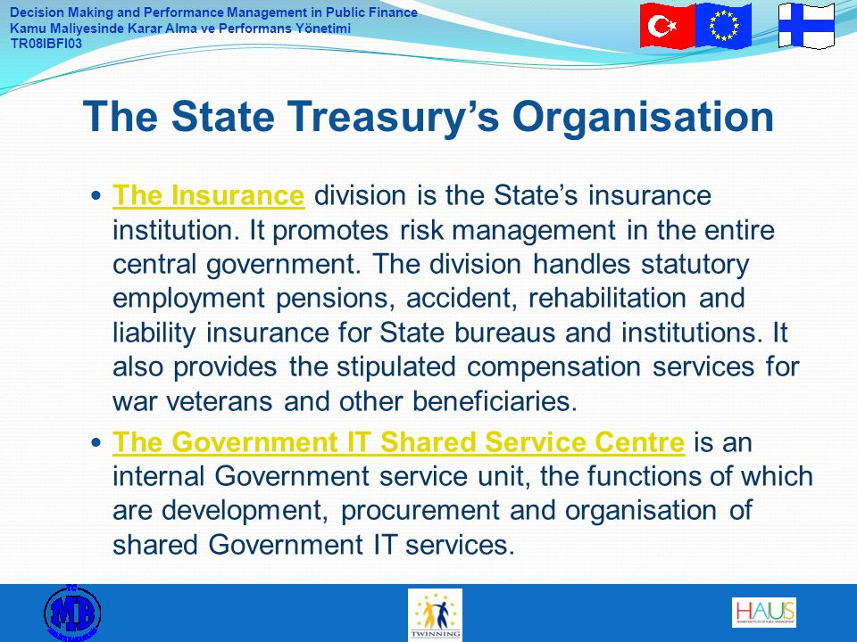 The State Treasury's Organisation