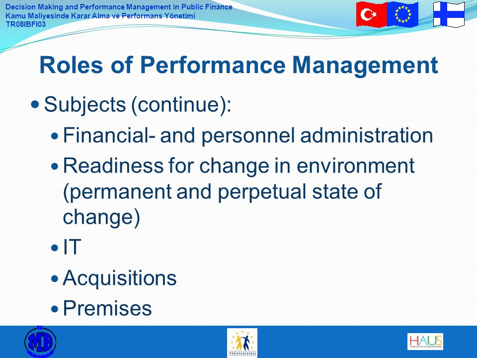 Roles of Performance Management