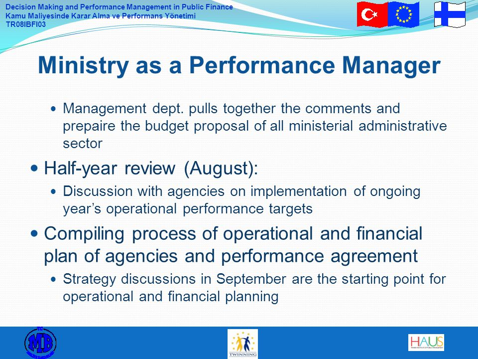 Ministry as a Performance Manager