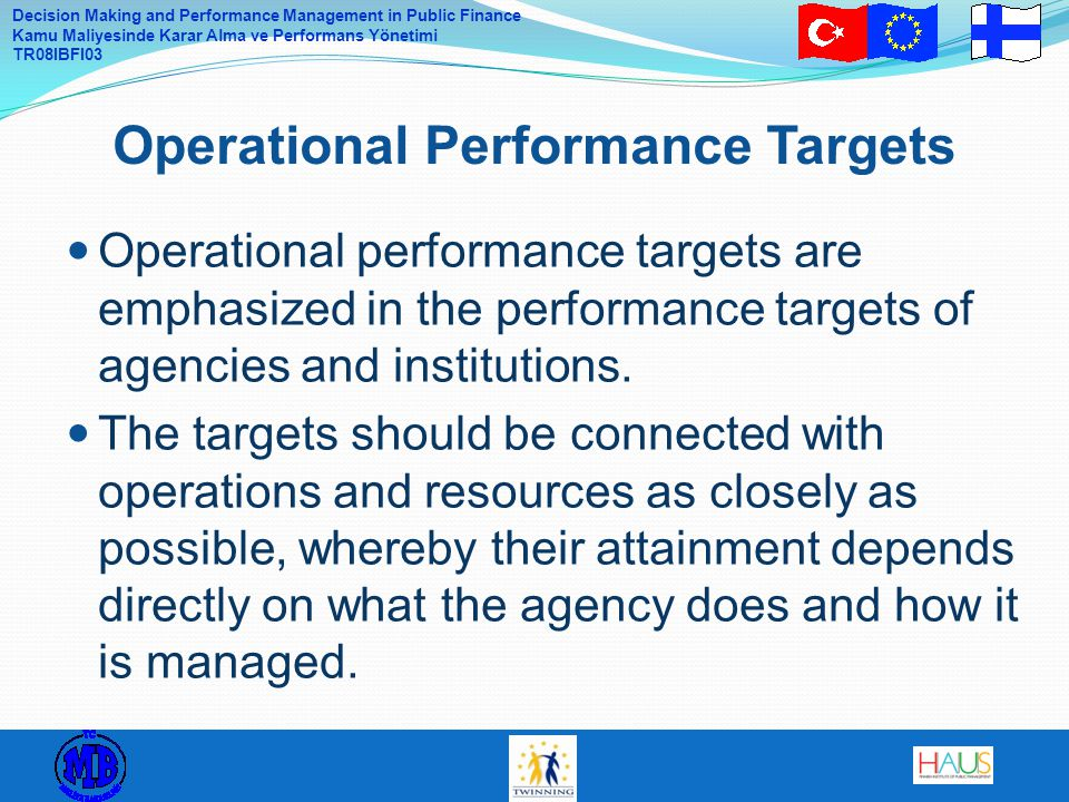 Operational Performance Targets