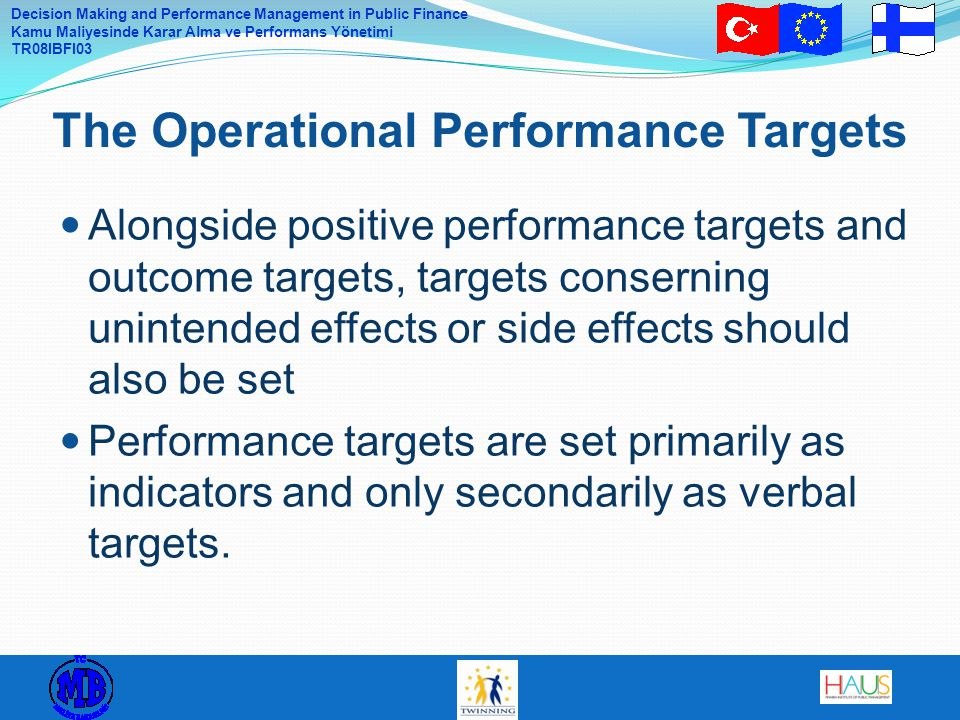 The Operational Performance Targets