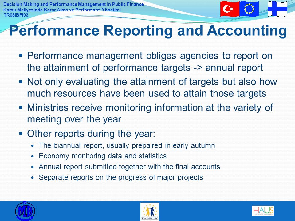 Performance Reporting and Accounting