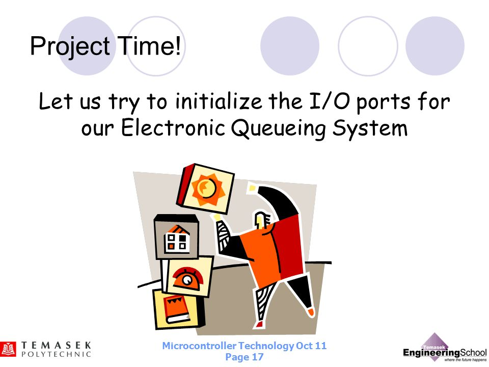Project Time! Let us try to initialize the I/O ports for our Electronic Queueing System