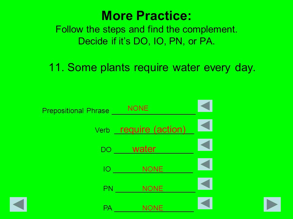 11. Some plants require water every day.
