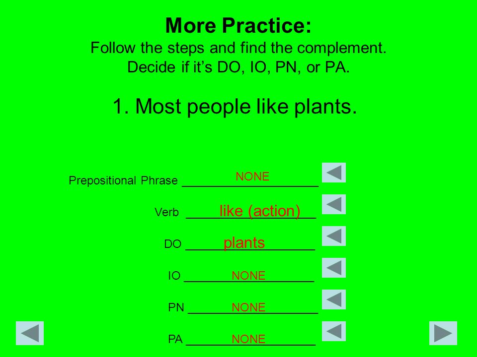 1. Most people like plants.