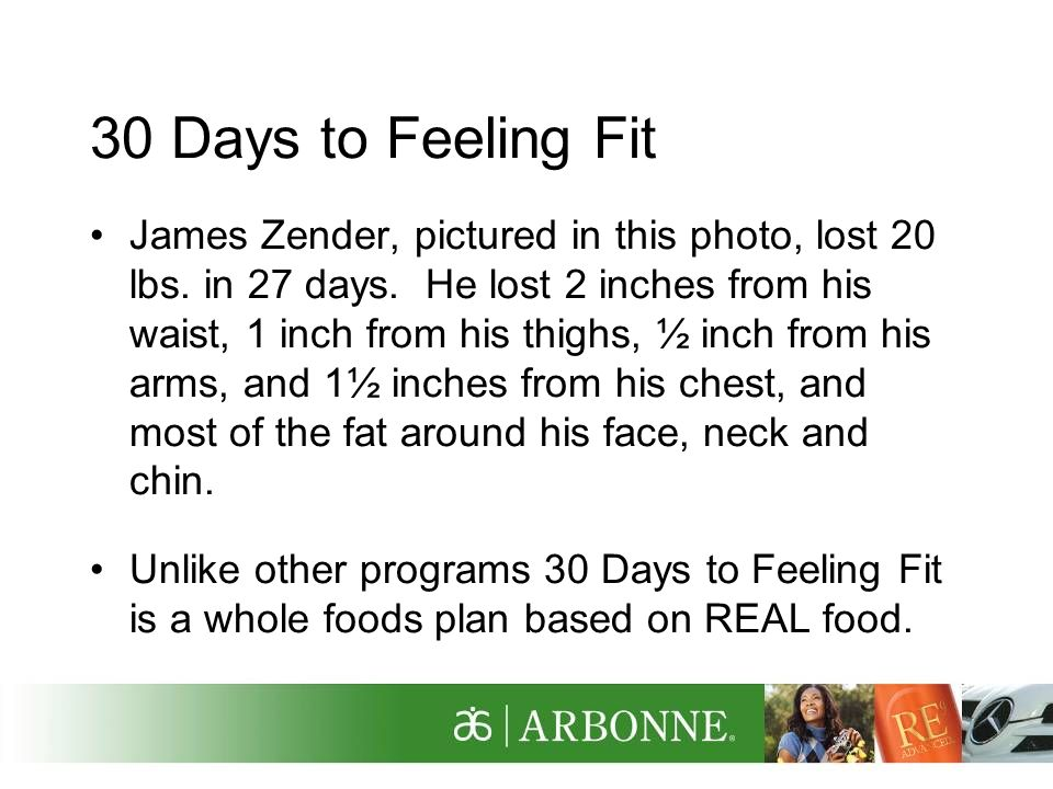 30 Days to Feeling Fit