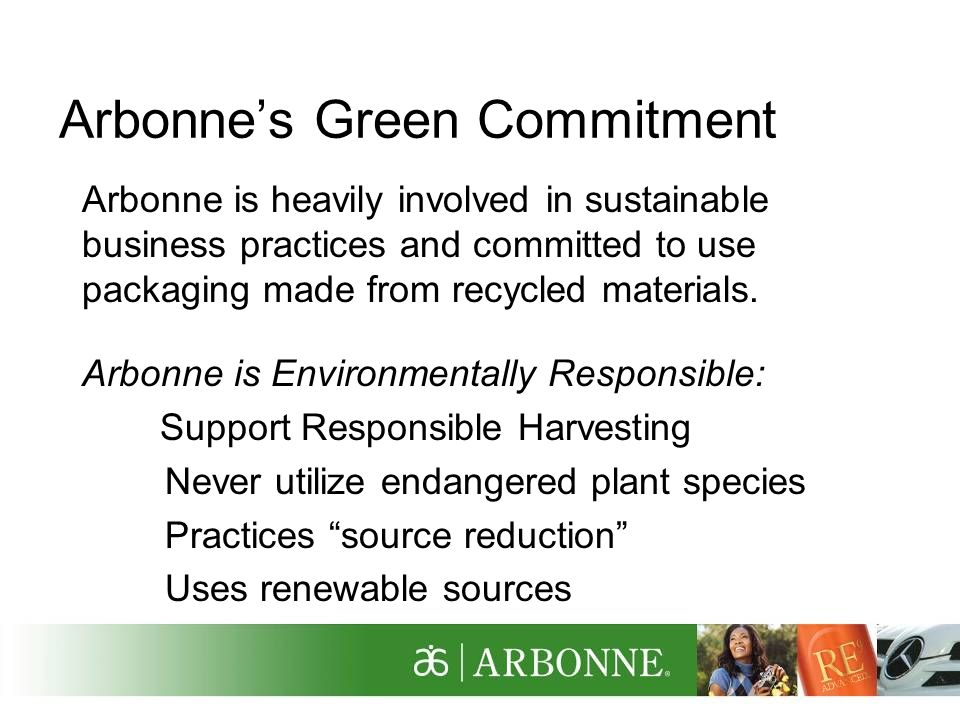 Arbonne's Green Commitment