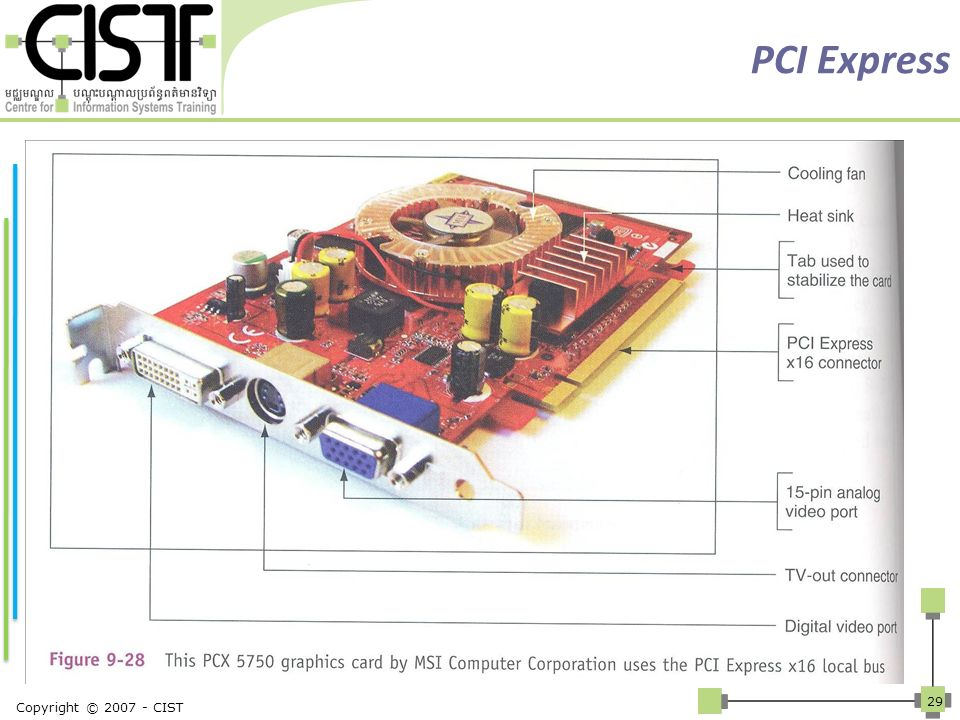 PCI Express VESA and AGP buses were developed specifically for video