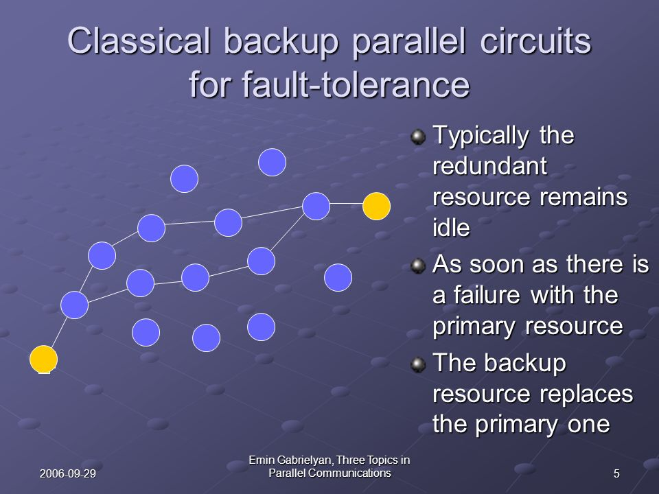 Classical backup parallel circuits for fault-tolerance