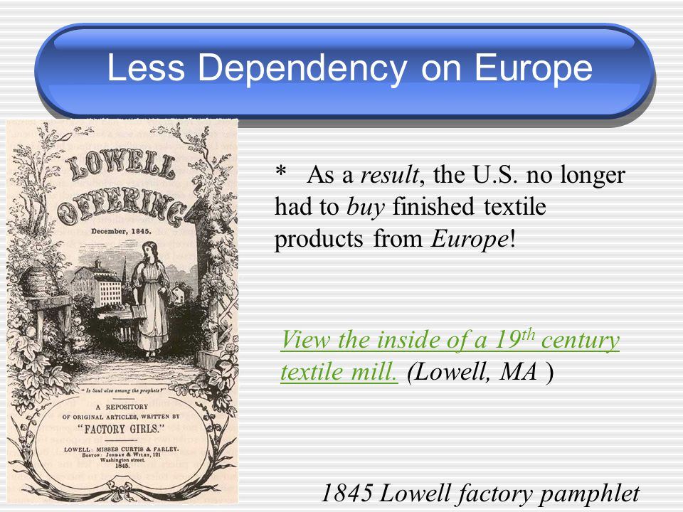 Less Dependency on Europe