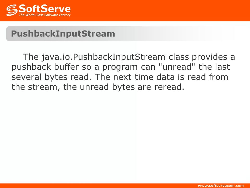 PushbackInputStream