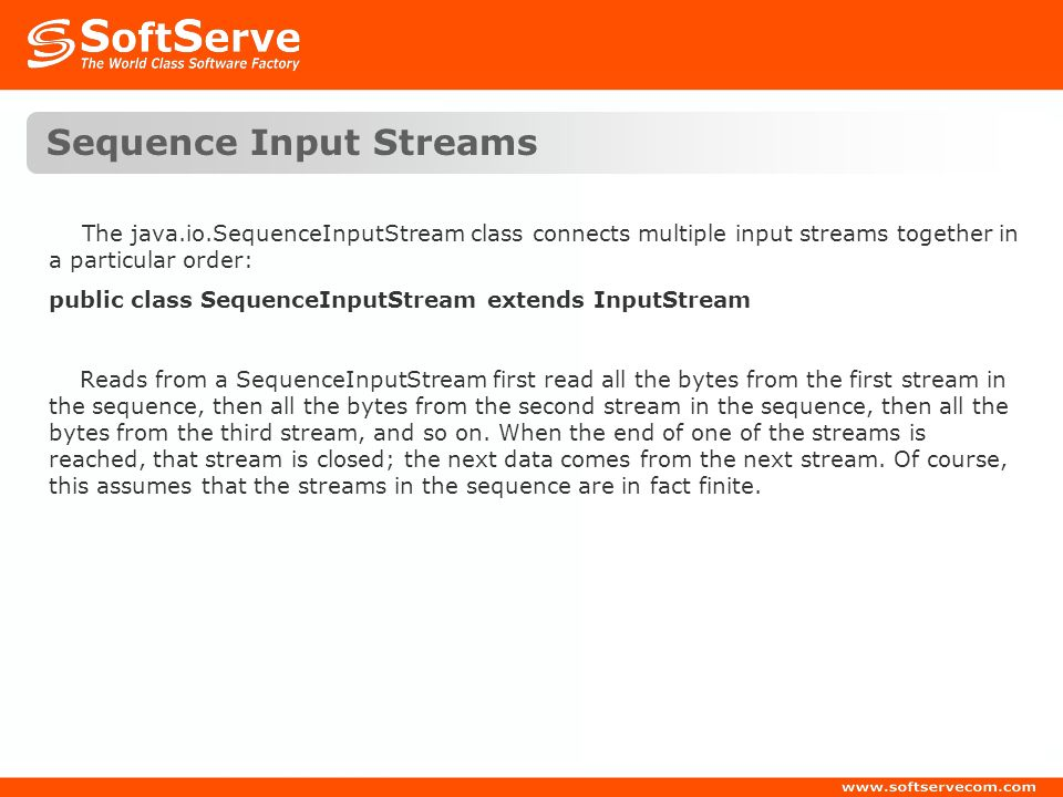 Sequence Input Streams