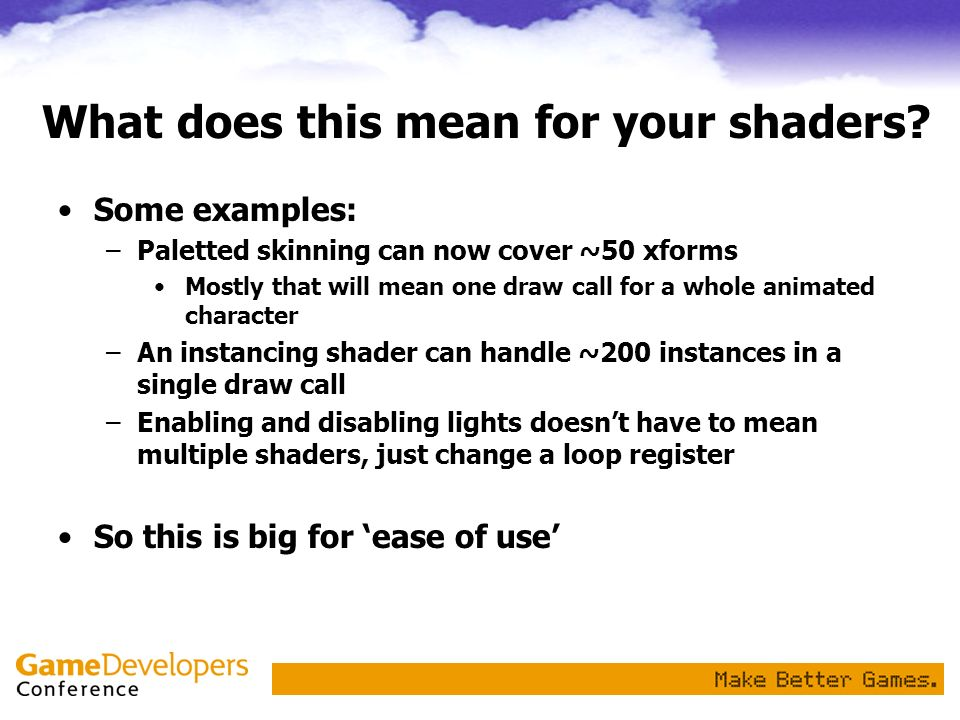 What does this mean for your shaders