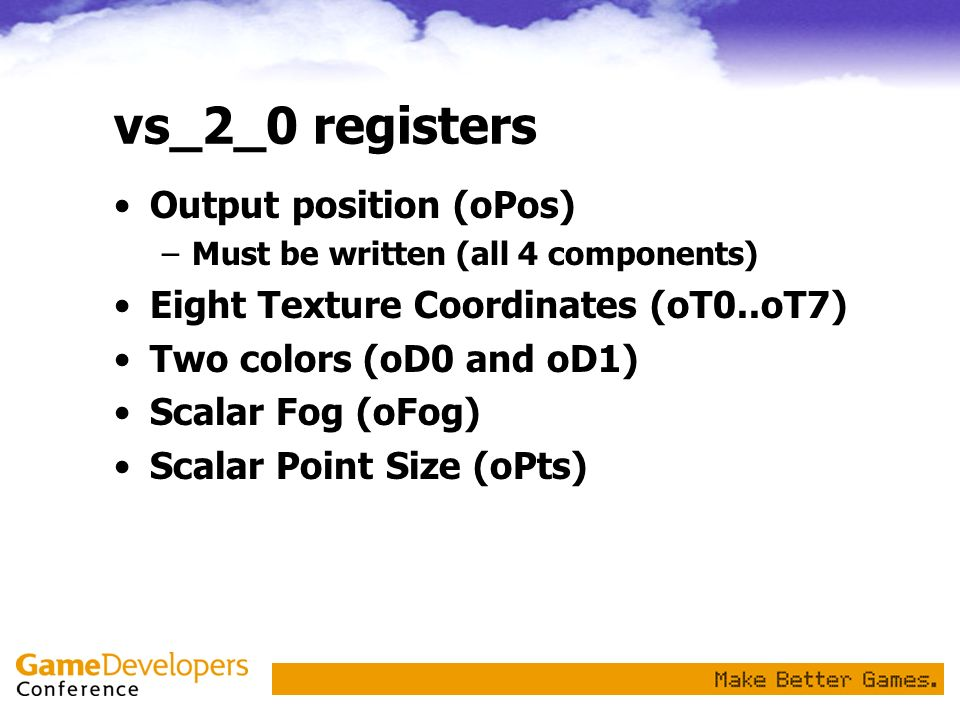 vs_2_0 registers Output position (oPos)