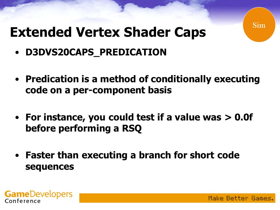 Extended Vertex Shader Caps