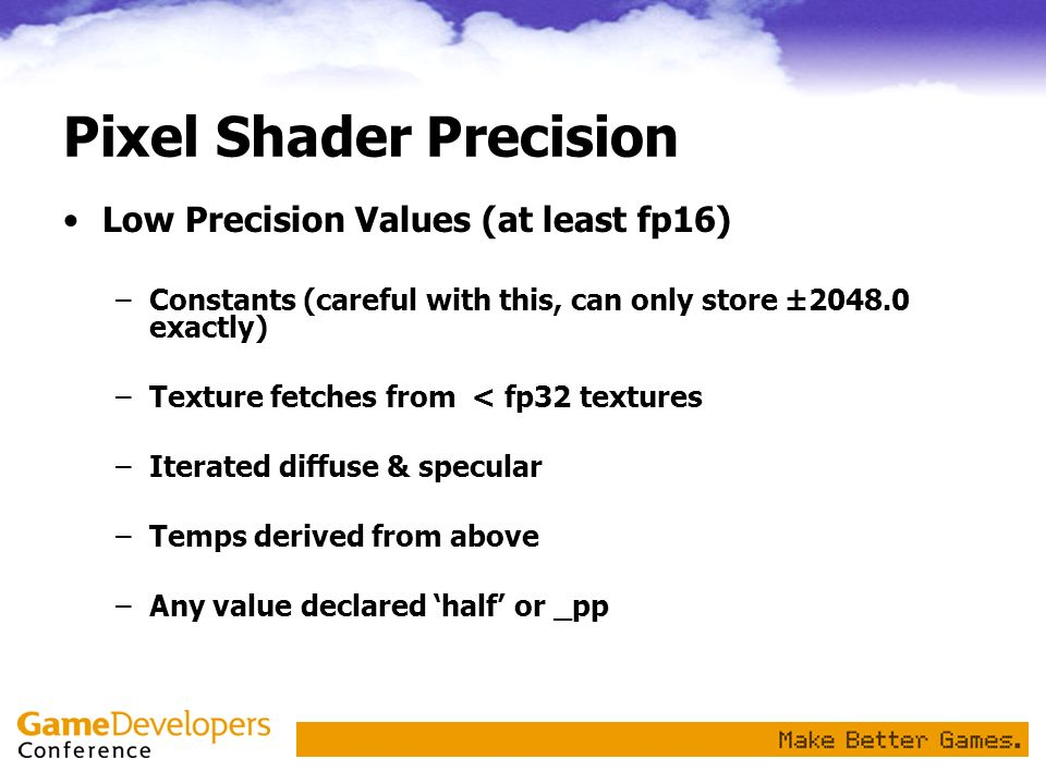 Pixel Shader Precision