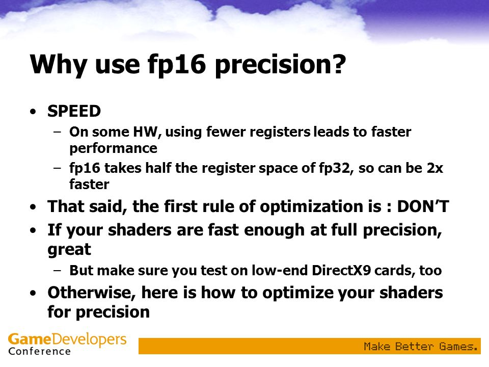 Why use fp16 precision SPEED