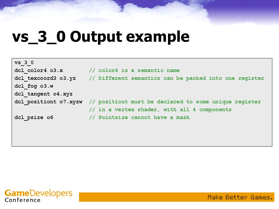 vs_3_0 Output example vs_3_0
