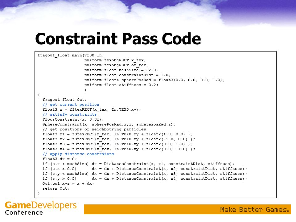 Constraint Pass Code