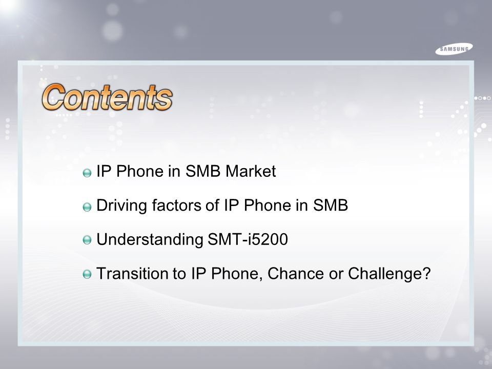 IP Phone in SMB Market Driving factors of IP Phone in SMB.
