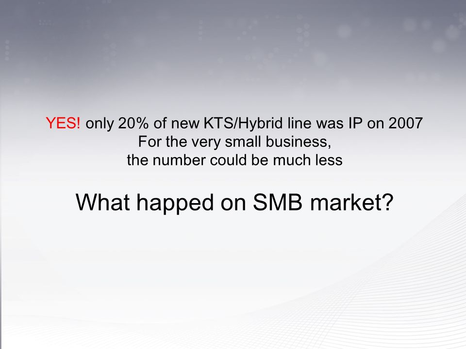 What happed on SMB market
