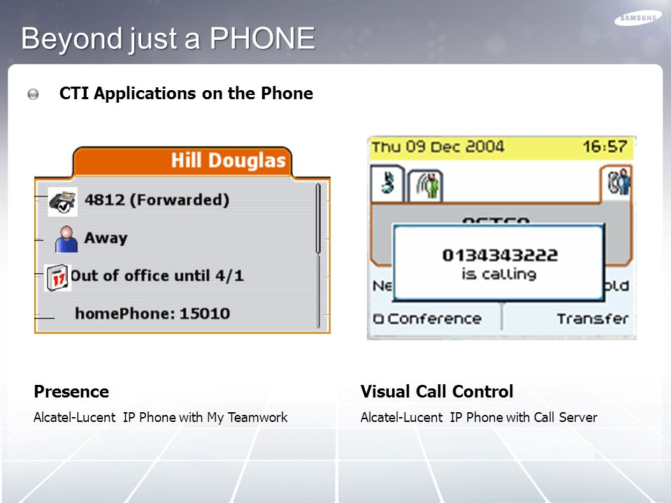 Beyond just a PHONE CTI Applications on the Phone Presence