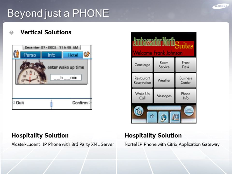 Beyond just a PHONE Vertical Solutions Hospitality Solution
