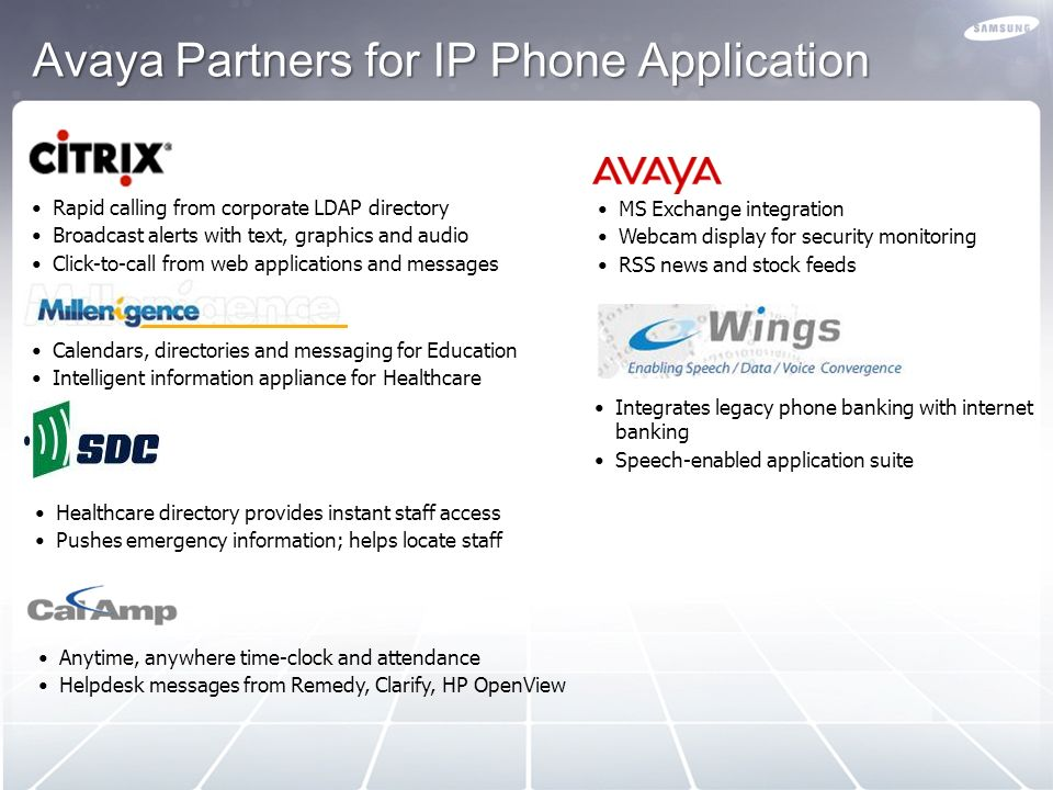 Avaya Partners for IP Phone Application