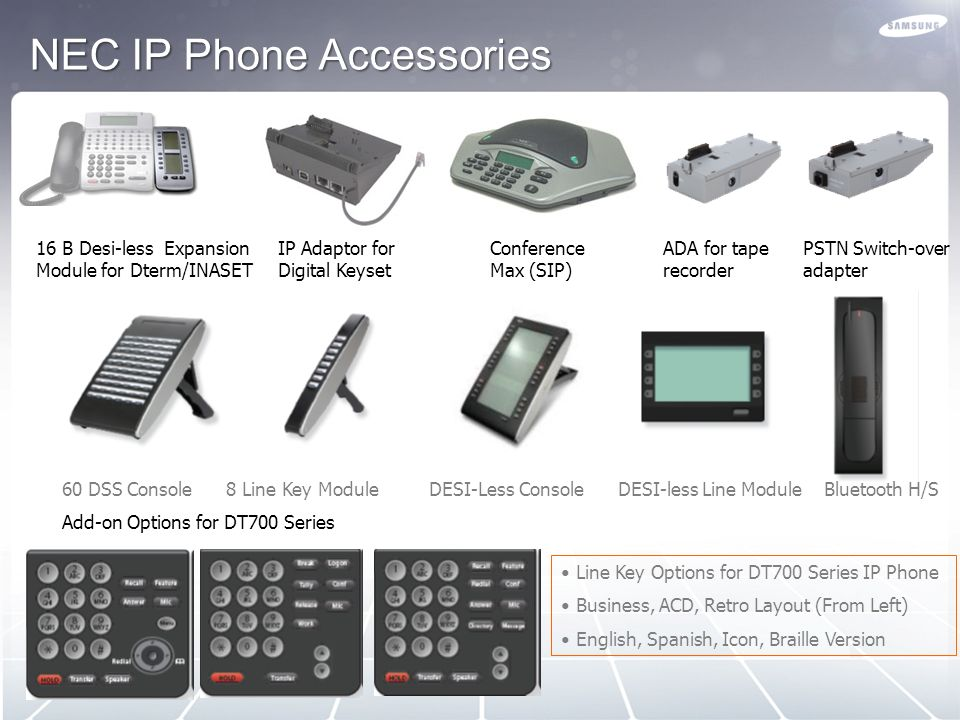 NEC IP Phone Accessories