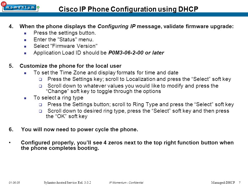 Cisco IP Phone Provisioning Guide—Sylantro-hosted Service