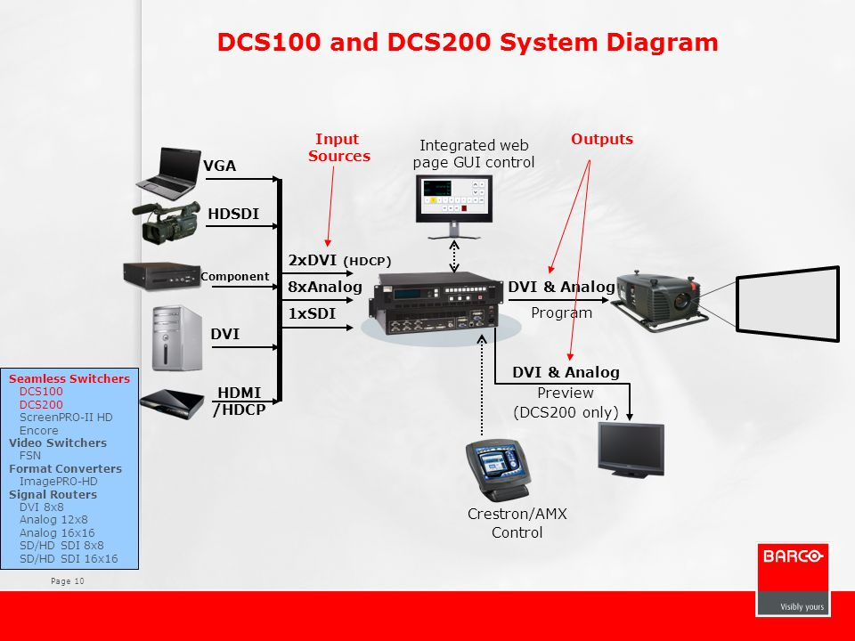 DCS100 and DCS200 System Diagram