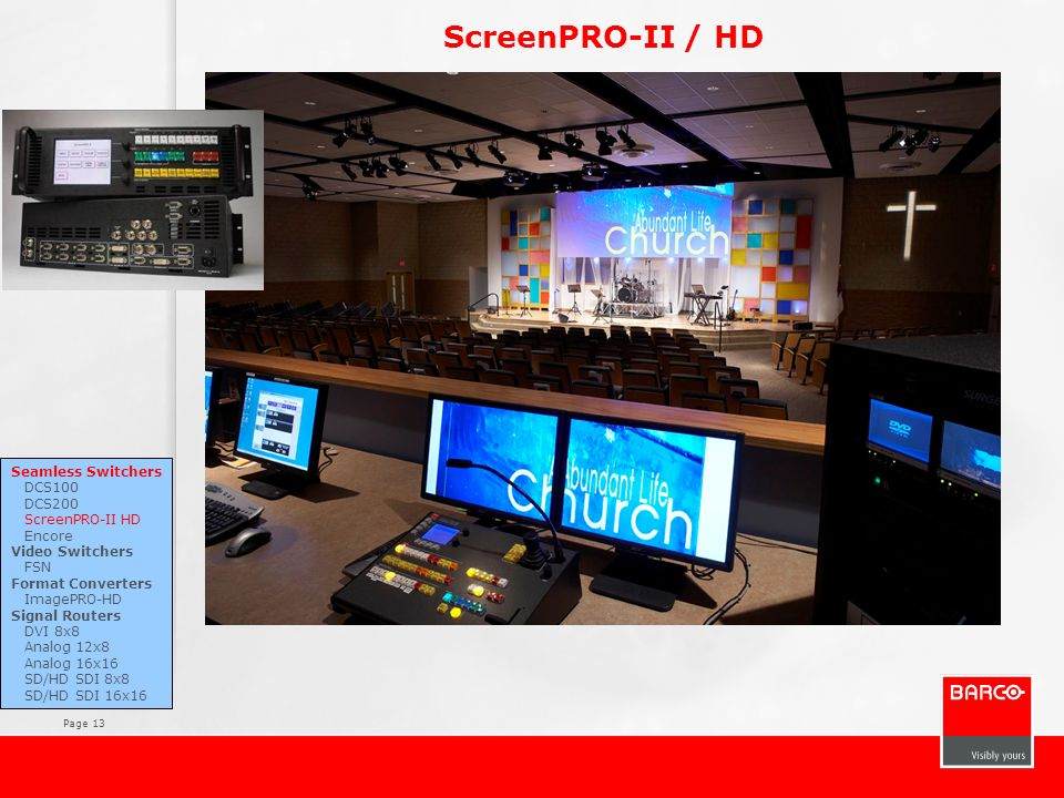 ScreenPRO-II / HD Key features High Quality Scaling