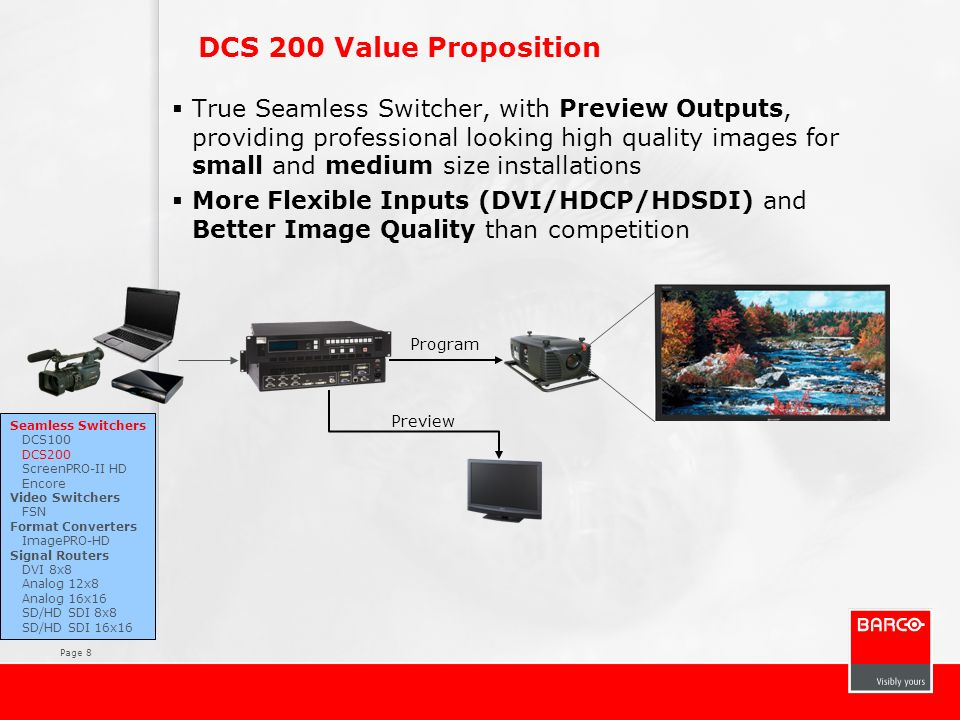 DCS 200 Value Proposition