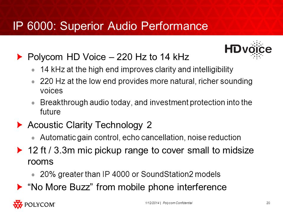 IP 6000: Superior Audio Performance
