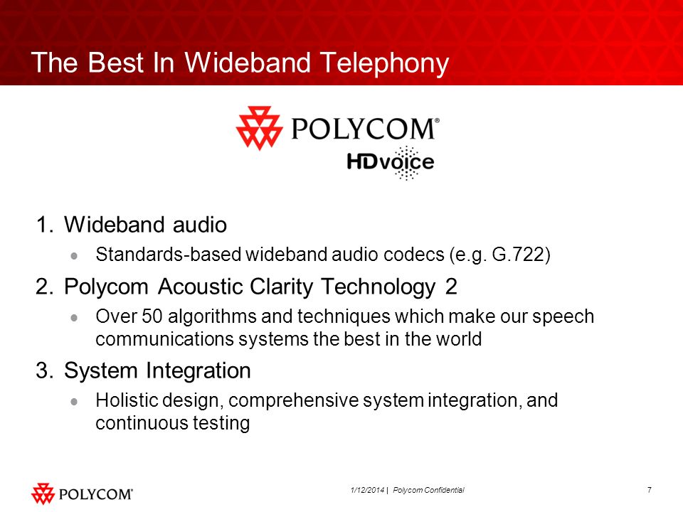 The Best In Wideband Telephony
