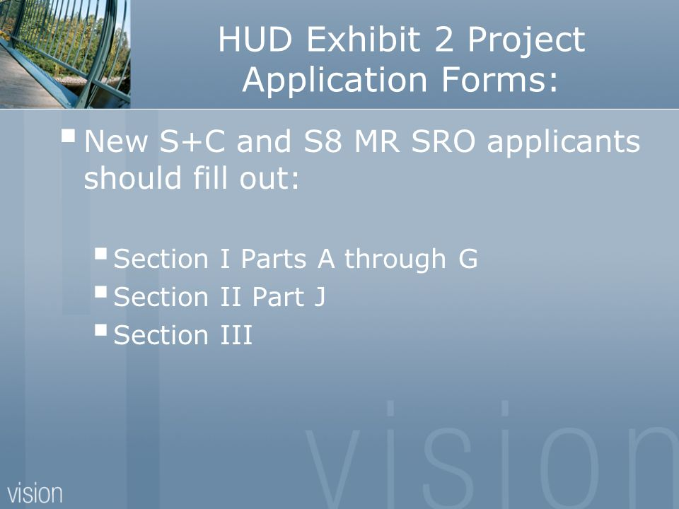 HUD Exhibit 2 Project Application Forms: