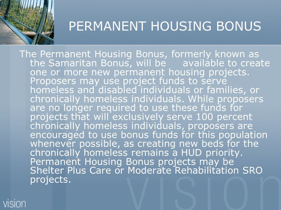 PERMANENT HOUSING BONUS