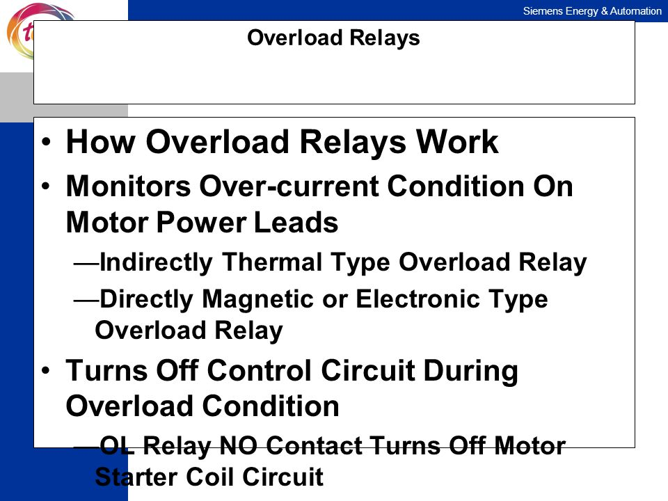 How Overload Relays Work