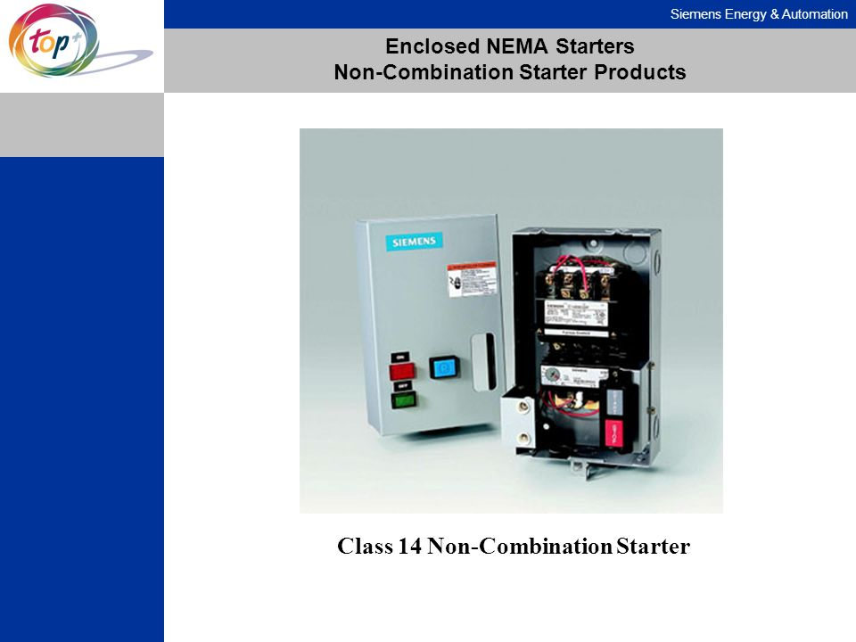 Enclosed NEMA Starters Non-Combination Starter Products