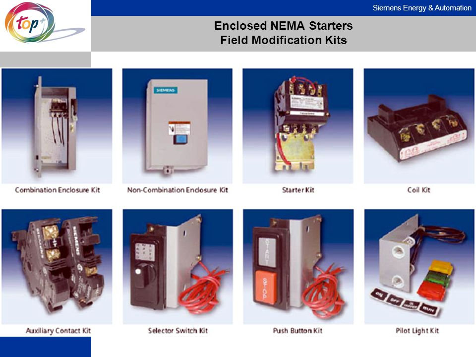 Enclosed NEMA Starters Field Modification Kits